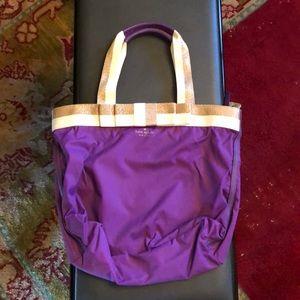Kate Spade purple nylon bag